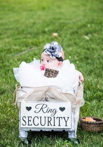 Ring Security - Rustic Wedding Sign