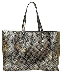 Bottega Veneta Intrecciomirage Tote in Gold/Black