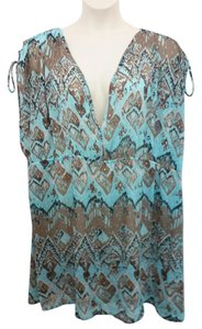 eddcbf322d223 PALISADES BEACH CLUB PALISADES BEACH CLUB DRAWSTRING SWIM COVER UP DRESS 3X