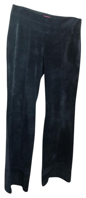 Item - Navy Leather Suede No Pockets Pants Size 4 (S, 27)