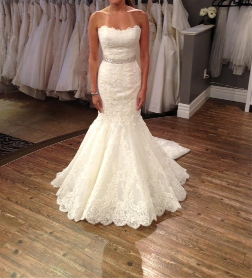 Enzoani Ivory Lace Style Dakota Formal Wedding Dress Size 6 (S ...