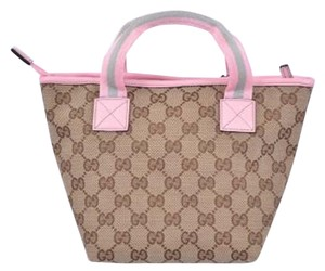 Gucci Tote in Brown Pink Gray