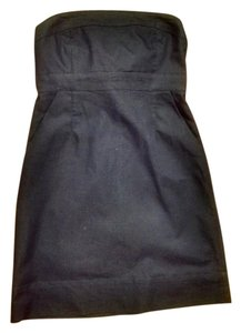 New York & Company short dress Dark Denim Strapless Pockets on Tradesy