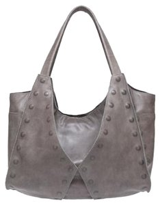 Hammitt Leather Studded Tote in Earl Grey