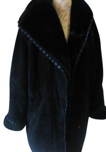 Suede Large Xlarge Fur Coat