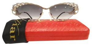 Caviar Eyewear CAVIAR 5595 Sunglasses Gold (C21) Crystal Stones Authentic