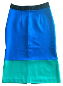 Amanda + Chelsea Skirt Blue/green/black color block