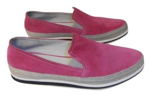 Prada Suede Casual Shoe bright pink Flats