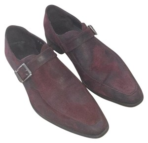 Donald J. Pliner Maroon Chris Monk Strap Dress Loafers Shoes