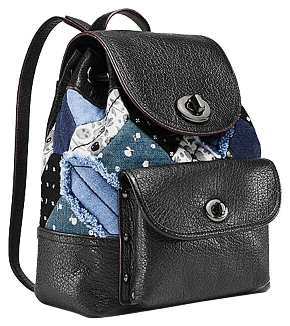 Item - Canyon Quilt Denim Mini Rucksack 37743 Silver Leather Backpack