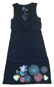 black Maxi Dress by Desigual Embroidered