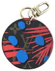 Louis Vuitton Limited Edition! Jungle Monogram Bag Charm Coquelicot Denim