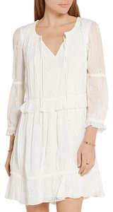Diane von Furstenberg short dress White Shift Eyelet on Tradesy