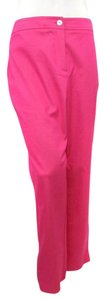 SPANNER Cropped Stretch Crepe Ankle Capri/Cropped Pants Pink