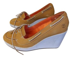 Timberland Loafers wheat and white Wedges