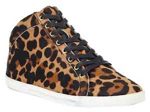Joie Calf Hair Sneakers Casual Leopard Flats