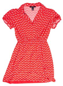 Forever 21 short dress red Rooster on Tradesy