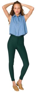 American Apparel Cheap Riding Green Skinny Pants Village Green