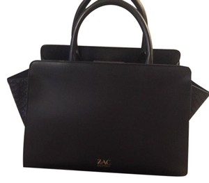 Zac Posen Smooth Leather Satchel in Black