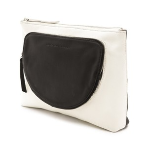 10 Crosby Derek Lam Bicolor Two-tone Leather White and Black Clutch