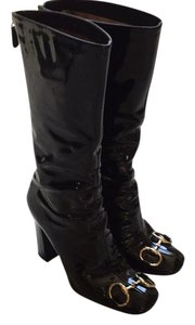 Gucci Black patened leather Boots