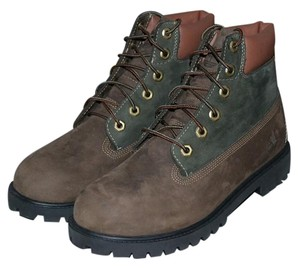 Timberland 6inch Waterproof Olive Green / Brown Boots