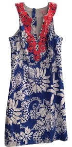Lilly Pulitzer short dress Royal Blue, White and Coral on Tradesy