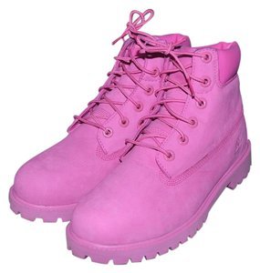 Timberland Waterproof 6inch Pink Boots