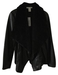 WD.NY Fully Lined Smooth Black Faux Leather Jacket
