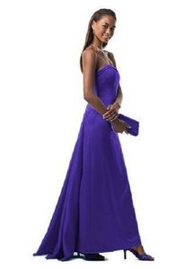 David's Bridal Navy 81026navy Dress