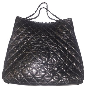Chanel Chain Leather Tote in Gunmetal