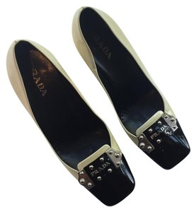Prada Black and Creme Pumps