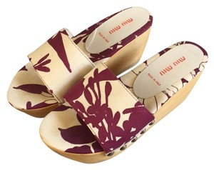 Miu Miu White and purple Wedges