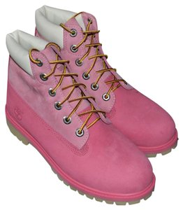 Timberland Waterproof 6inch Pink / Light Pink Boots