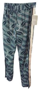 Anthropologie Patterned Comfy Relaxed Pants Blue