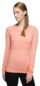 Lululemon Shirts Workout Shirts Womens Long Sleeve T Shirt Orange/peach