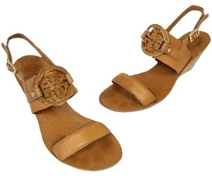 Tory Burch Caroline Eddie Miller Thora Espadrille Brown Wedges