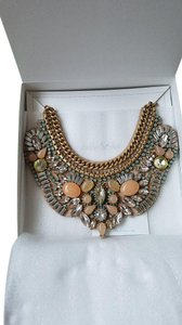 Stella & Dot Limited edition giverny embroidered necklace