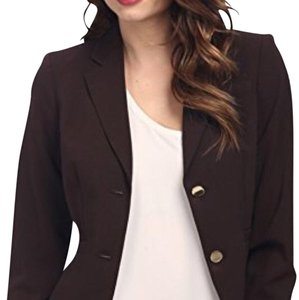Calvin Klein Two-Button Jacket & Pants Otter Brown Suit