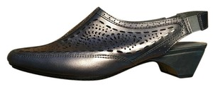 White Mountian Comfortable Pewter, grey, silver Sandals
