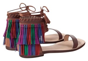 Zara Saddle brown/multi color Sandals