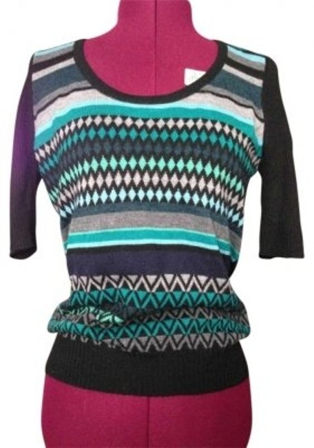 Preload https://item3.tradesy.com/images/the-limited-black-mulit-colored-cool-tones-patterened-sweaterpullover-size-8-m-192312-0-0.jpg?width=400&height=650