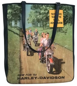 Harley Davidson Tote in Navy w/picture