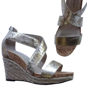 Adrienne Vittadini NEW gold silver Wedges