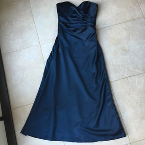 Impression Bridal Navy Satin A-line Dress Dress