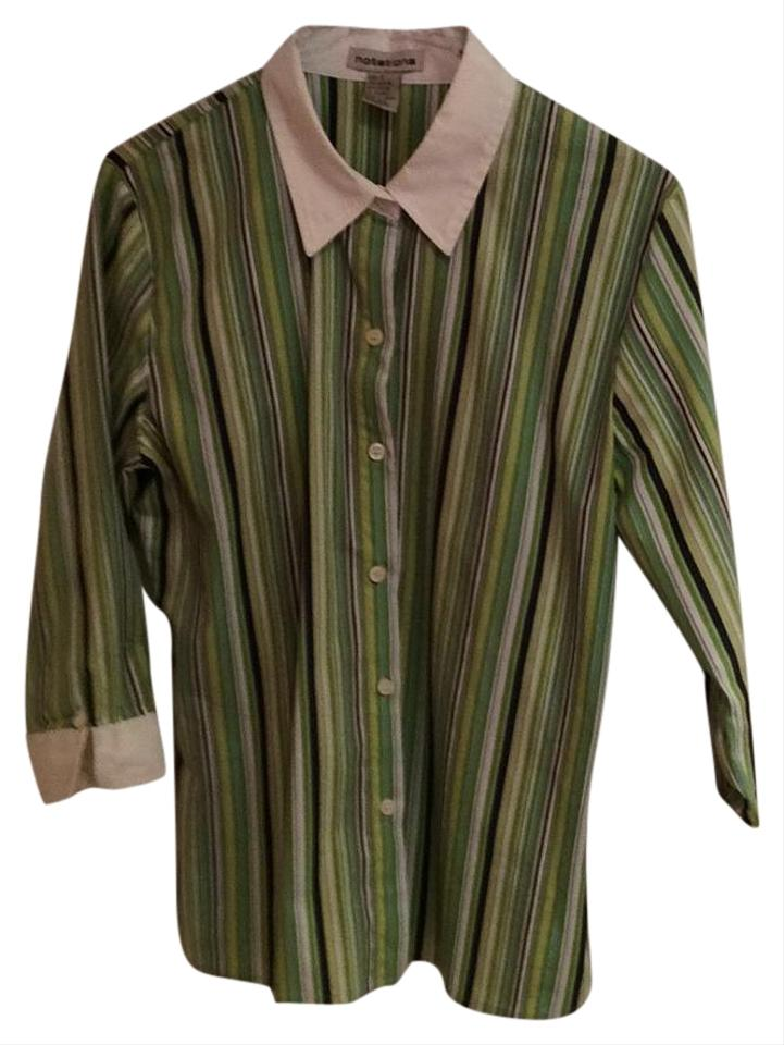 1247279cea15f Notations Button-down Top Size 4 (S) - Tradesy