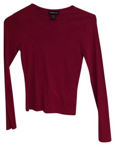 Express T Shirt Burgandy