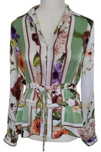 Roberto Cavalli Top Ivory, green, multi