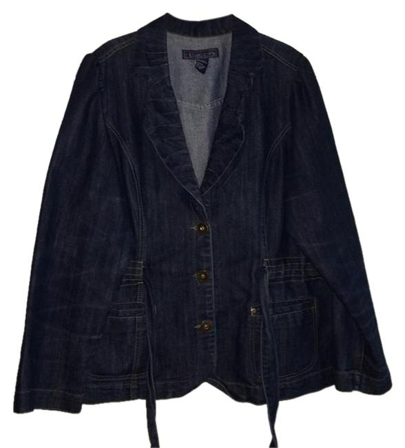 Item - Blue Made Dress Jean Topper with Bow Jacket Size 14 (L)