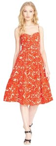 Tangerine-hued Floral Maxi Dress by Joie
